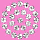 Pink Camellia Pattern by GillianAdams