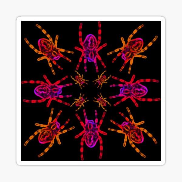 Neon Spider Circle Sticker
