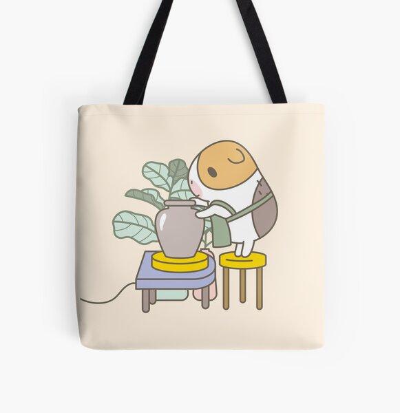 Bubu the Guinea Pig, Potter All Over Print Tote Bag