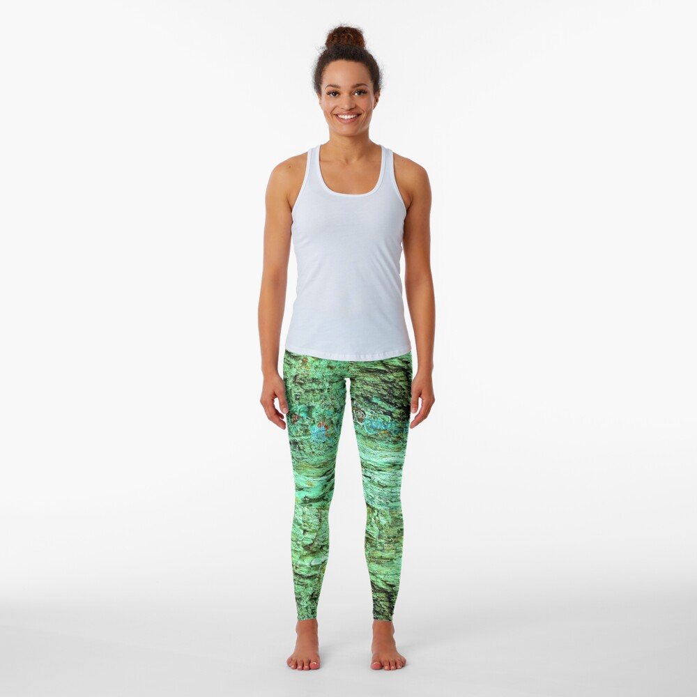Rocks tagged and textured Leggings