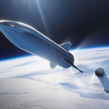 SpaceX's BFR Stage Separation by bobbooo
