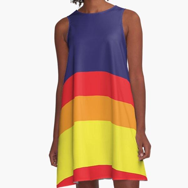 Houston Champ Multistripe A-Line Dress