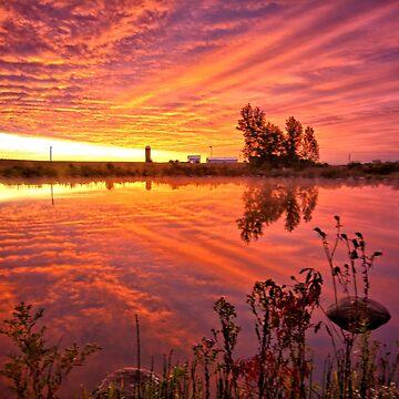 Predawn Autumn Sunrise by LynyrdSky