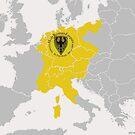 German Holy Roman Empire Map..1200 A.D.  by edsimoneit
