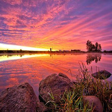 Predawn Autumn Sunrise 2 by LynyrdSky