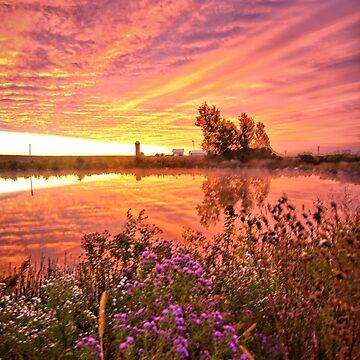 Predawn Autumn Sunrise 3 by LynyrdSky