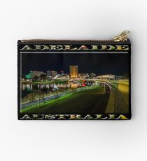 Adelaide Riverbank at Night III (poster on black) Studio Pouch