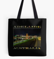 Adelaide Riverbank at Night III (poster on black) Tote Bag