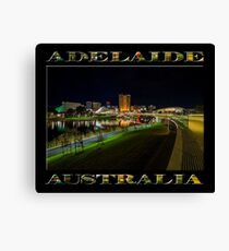 Adelaide Riverbank at Night III (poster on black) Canvas Print