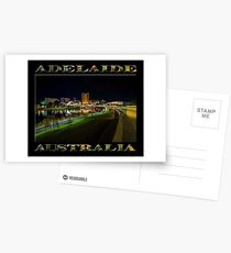 Adelaide Riverbank at Night III (poster on black) Postcards