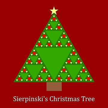 Sierpinski's Christmas Tree - Triangle Math by bethcentral