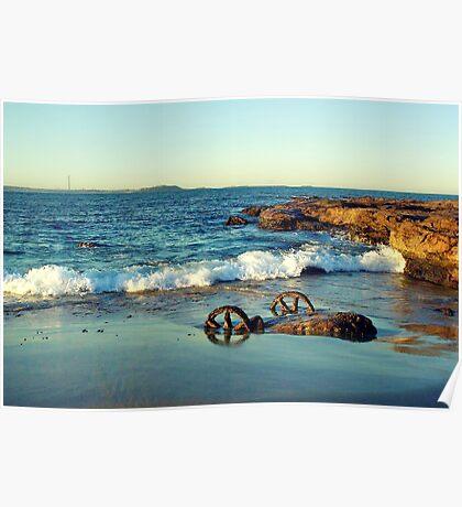 Waterscape: Windang Island Bogey wheels II Poster
