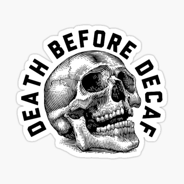 Decaf Sticker