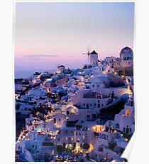 Sonnenuntergang in Ola Santorini Poster