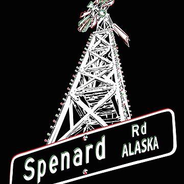 Iconic Spenard Windmill in Anchorage, Alaska Merchandise by realartisbetter