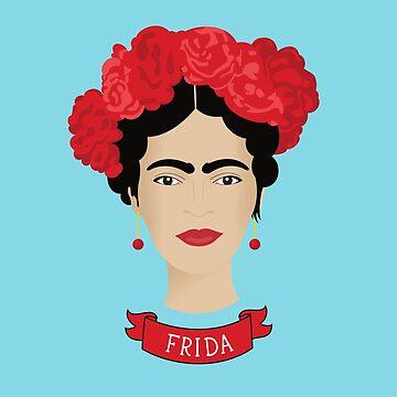 Frida Kahlo Digital Art Design by kathleenfrank