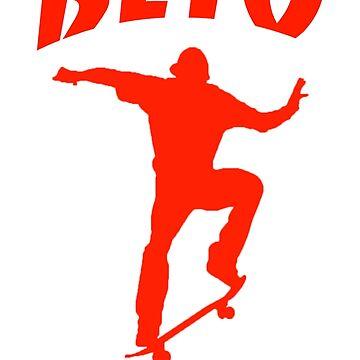 Beto for Texas Skateboarding - Orange by Thelittlelord
