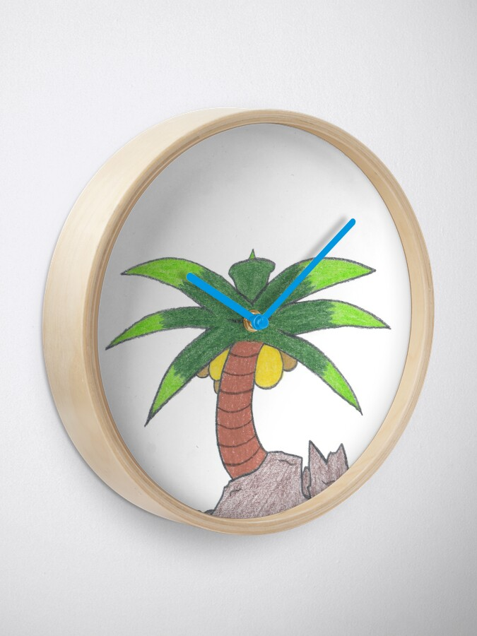 Alternate view of Merch #19 -- Palm Atop The Rugged Embankment Clock