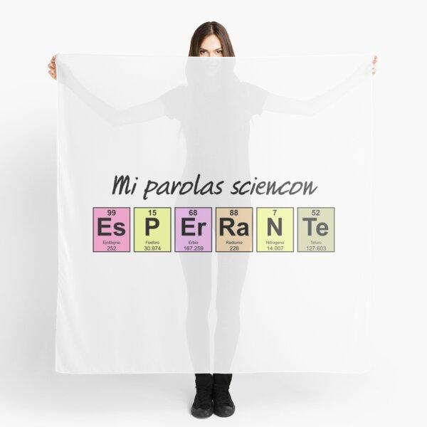 Mi parolas sciencon esperante - I speak science in Esperanto Scarf