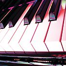 Neon Pink Piano Keys by Jerald Simon (Music Motivation - musicmotivation.com) by jeraldsimon