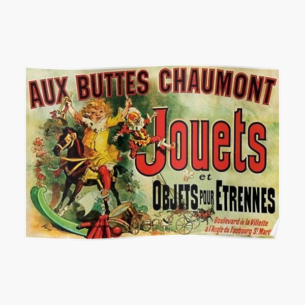Aux Buttes Chaumont Friends (PUBLIC DOMAIN) Poster