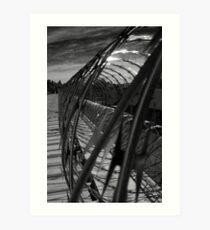 Razor Wire B Art Print