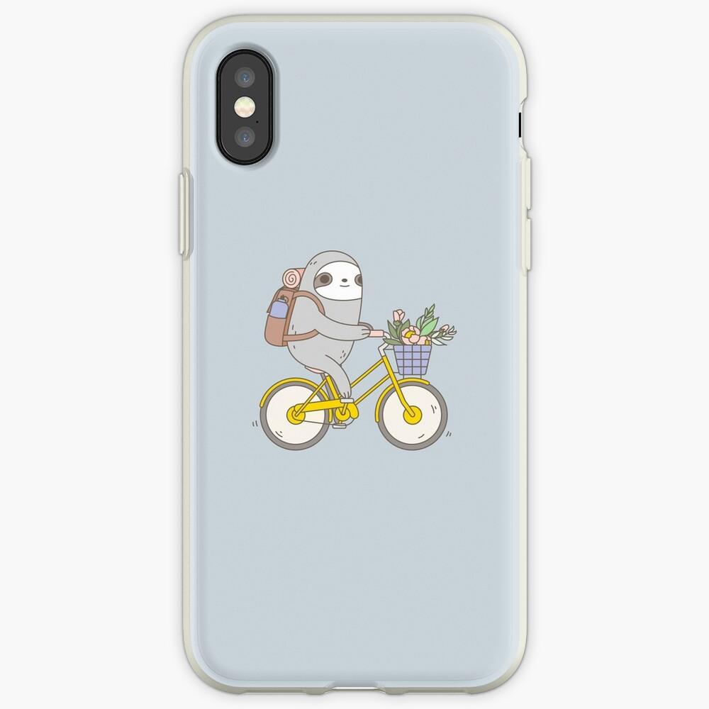 Biking Sloth  iPhone Case & Cover