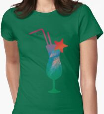 Summer caribbean cocktail Womens Fitted T-Shirt