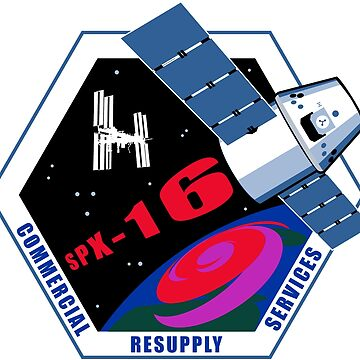 NASA/SpaceX Commercial Resupply Services CRS-16 (SpX-16) Mission Patch by bobbooo