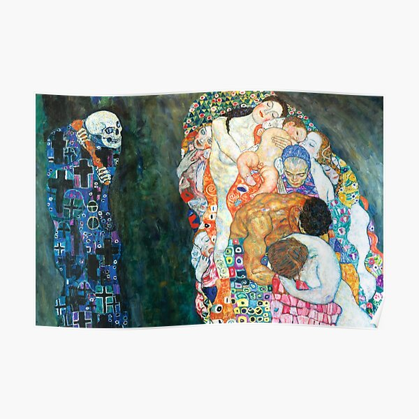 Gustav Klimt Death and Life Poster