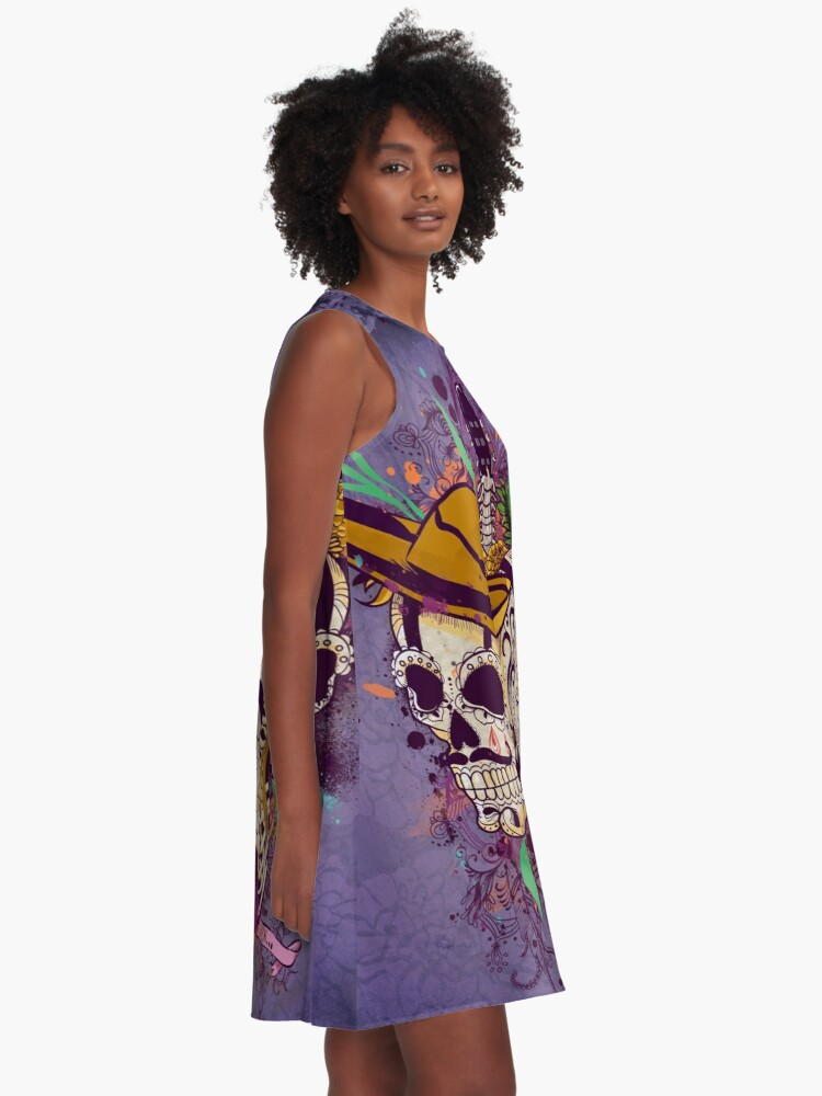 Alternate view of Day of the dead A-Line Dress