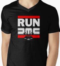Run Delorean - DMC Inspired Men's V-Neck T-Shirt