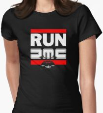 Run Delorean - DMC Inspired Women's Fitted T-Shirt