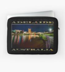 Adelaide Riverbank at Night VI (poster on black) Laptop Sleeve