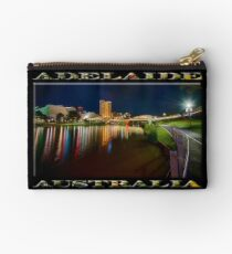 Adelaide Riverbank at Night VI (poster on black) Studio Pouch