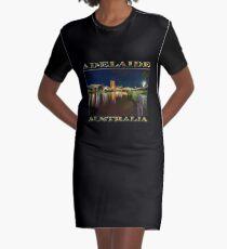 Adelaide Riverbank at Night VI (poster on black) Graphic T-Shirt Dress