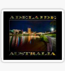 Adelaide Riverbank at Night VI (poster on black) Sticker