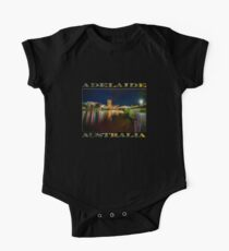 Adelaide Riverbank at Night VI (poster on black) One Piece - Short Sleeve