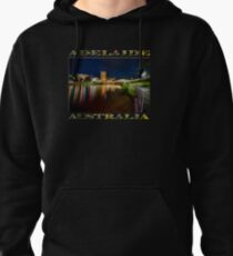 Adelaide Riverbank at Night VI (poster on black) Pullover Hoodie
