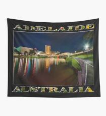 Adelaide Riverbank at Night VI (poster on black) Wall Tapestry