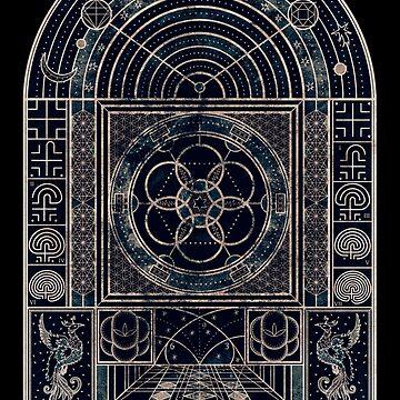 Sacred Geometry, The Journey Within, Dark by RAFAROMAN