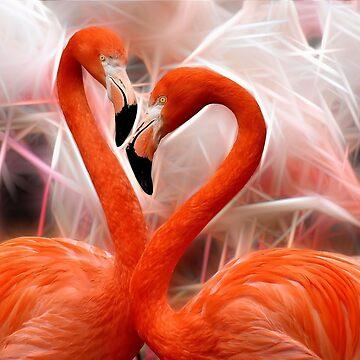 Flaming Flamingo Fractal by EdmondHoggeJr