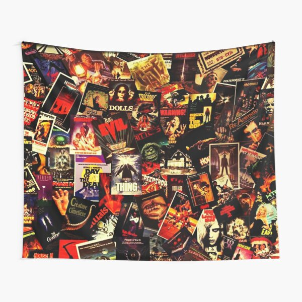 Horror Movies Collage Tapestry