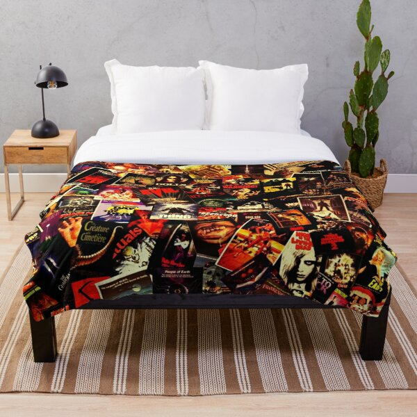 Horror Movies Collage Throw Blanket