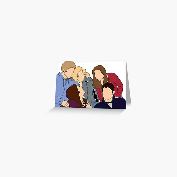 One Tree Hill Cast Group Graphic Greeting Card