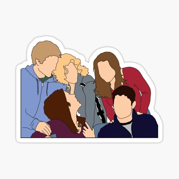 One Tree Hill Cast Group Graphique Sticker