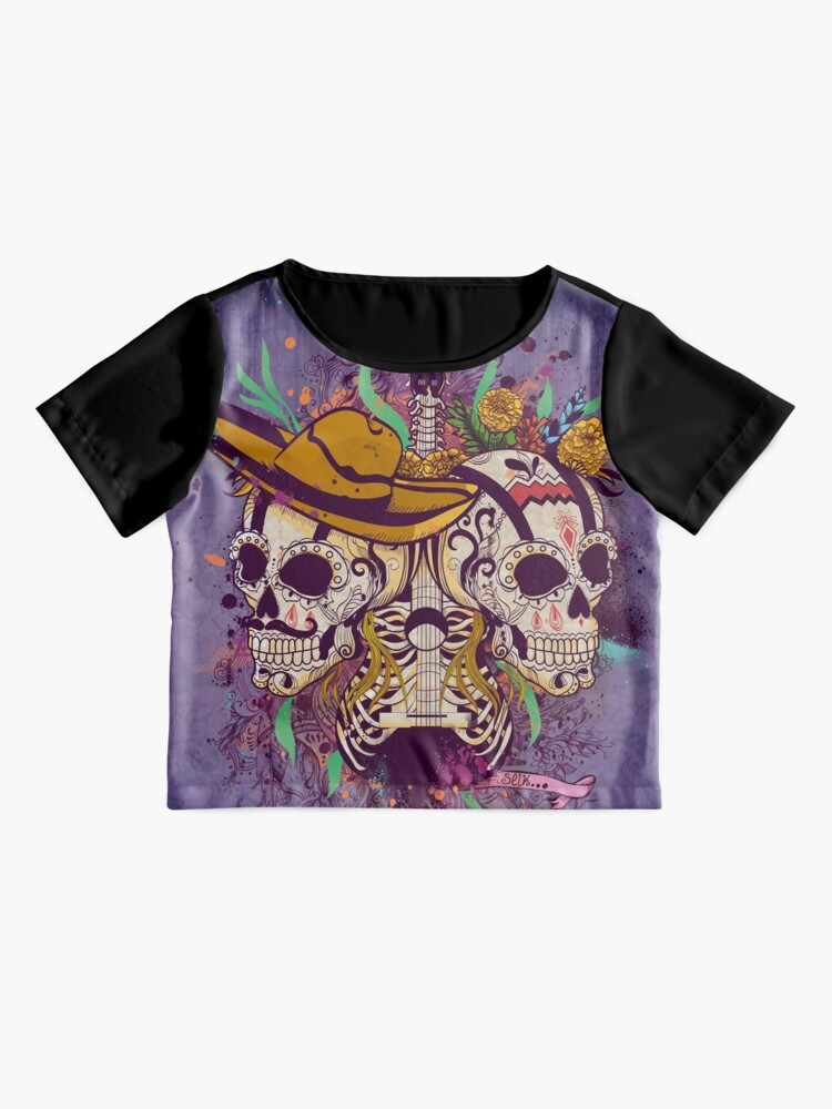 Alternate view of Day of the dead Chiffon Top