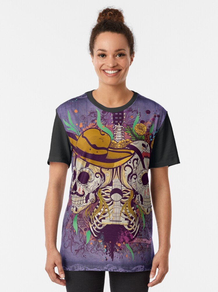 Alternate view of Day of the dead Graphic T-Shirt