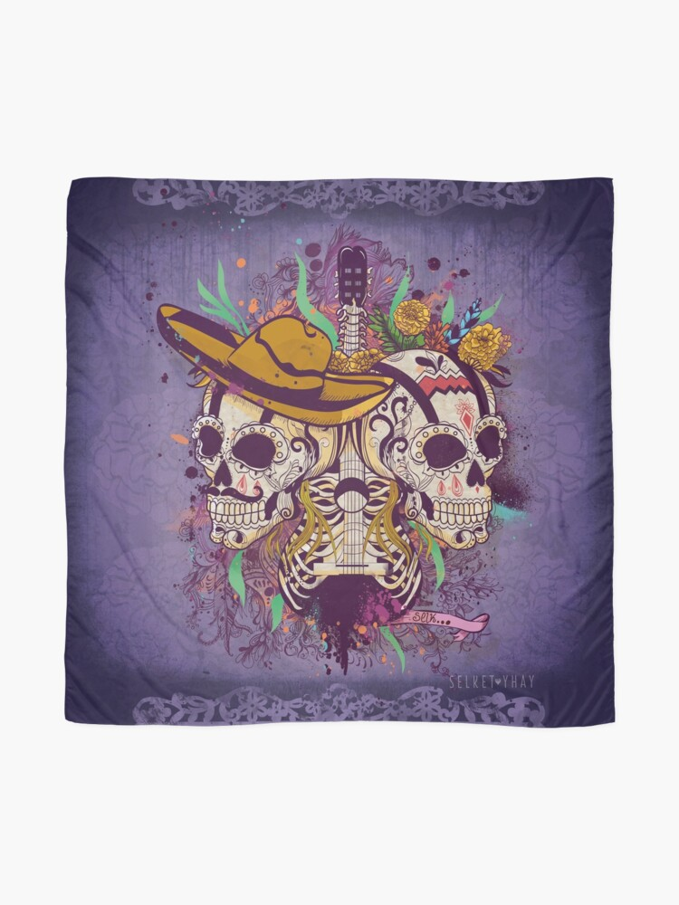 Alternate view of Day of the dead Scarf