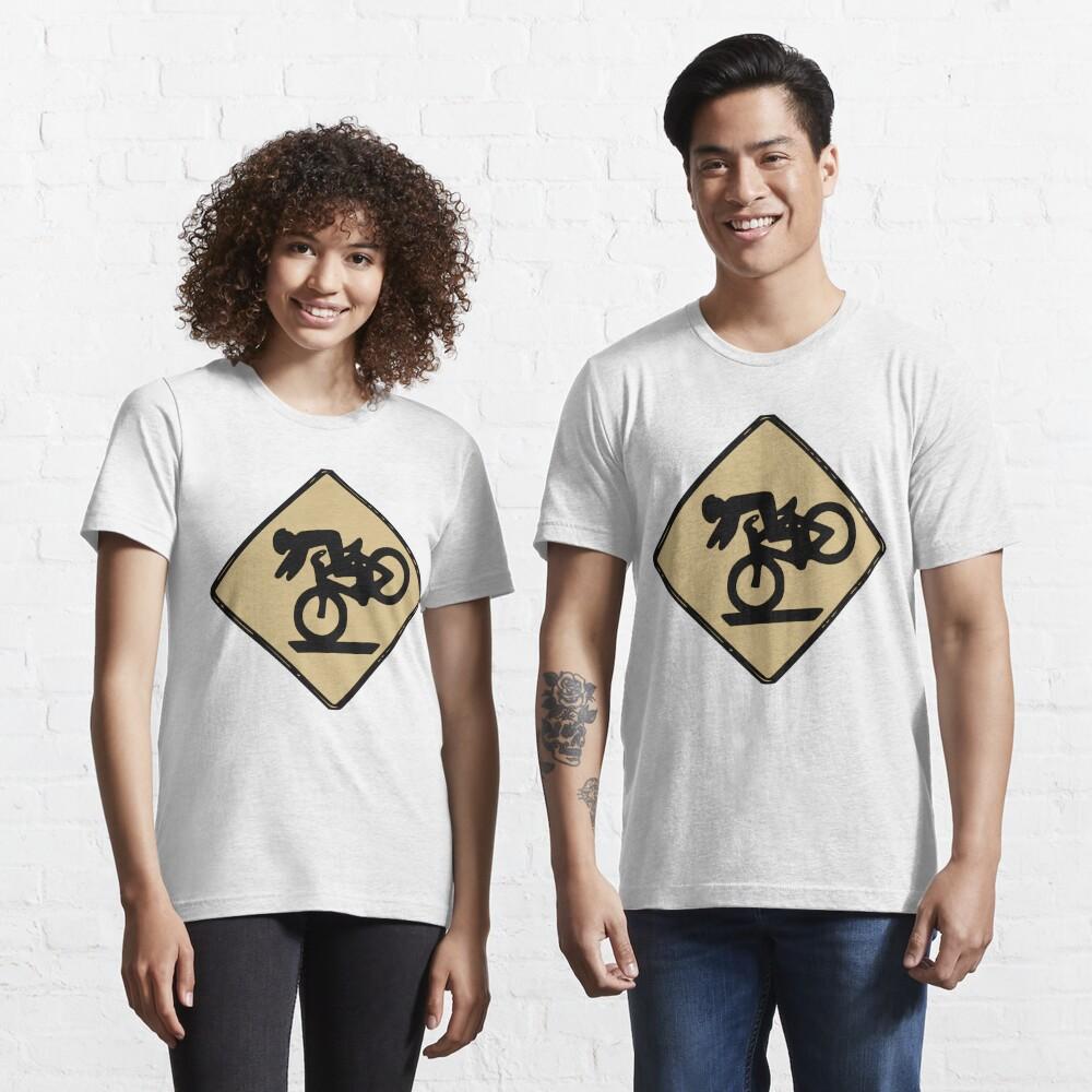 Funny Tumbling Bike Warning Sign Essential T-Shirt